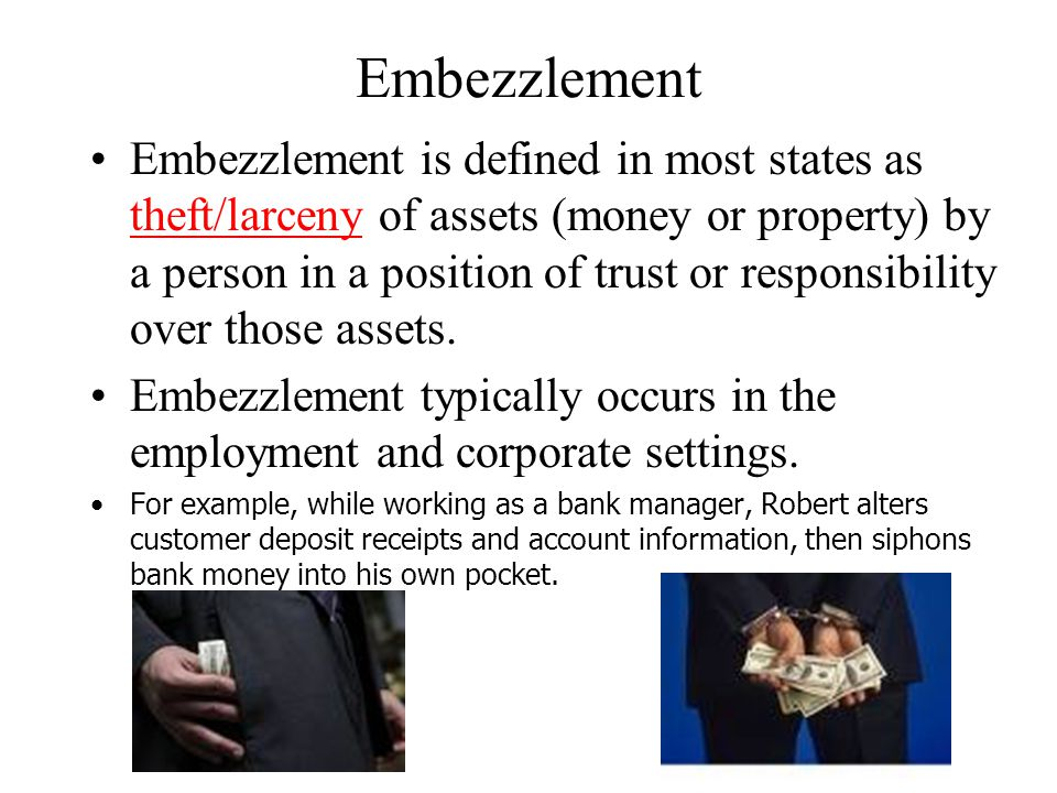 Fundamentals with Embezzlement