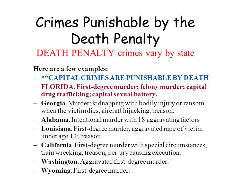 Murders must be punished by death composition
