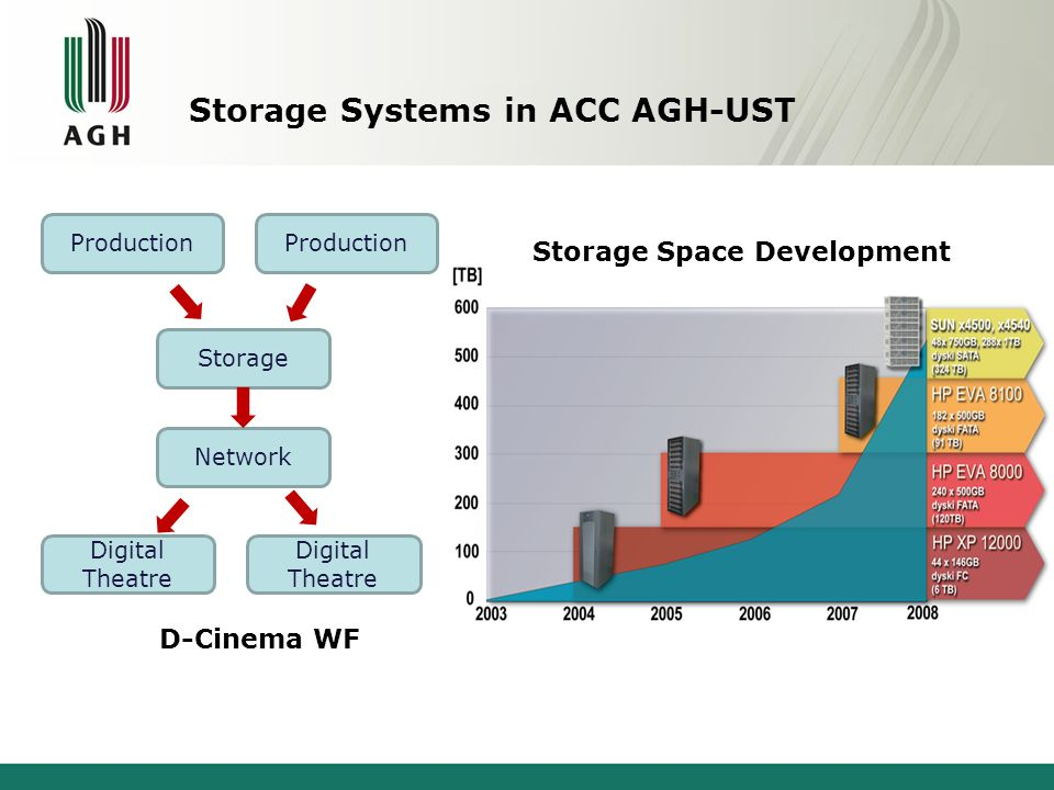 Storage Systems in ACC AGH-UST