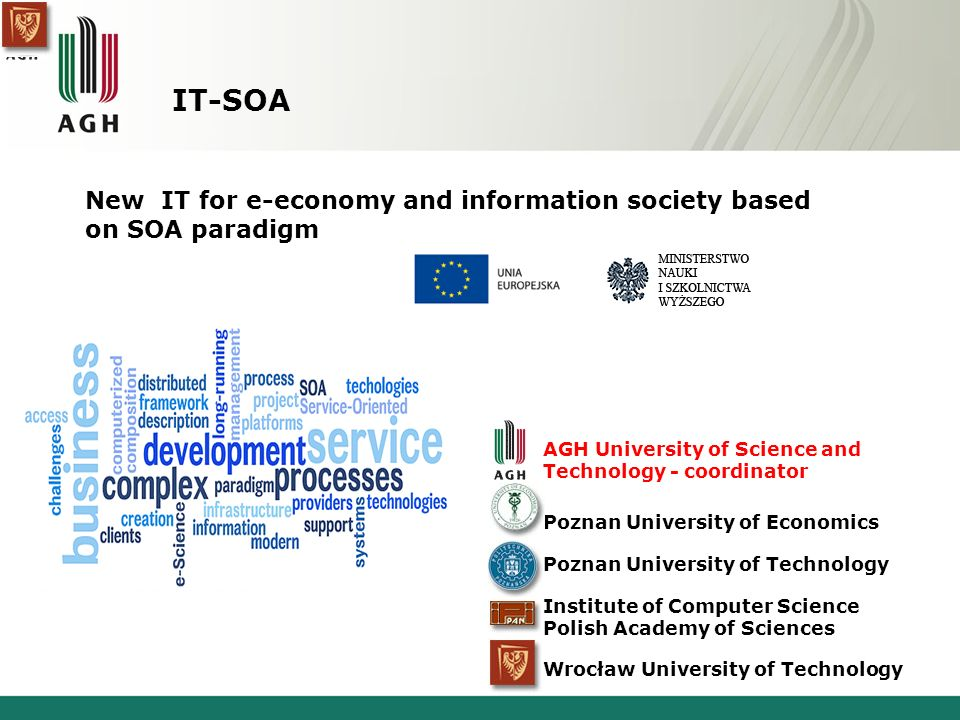 IT-SOA New IT for e-economy and information society based