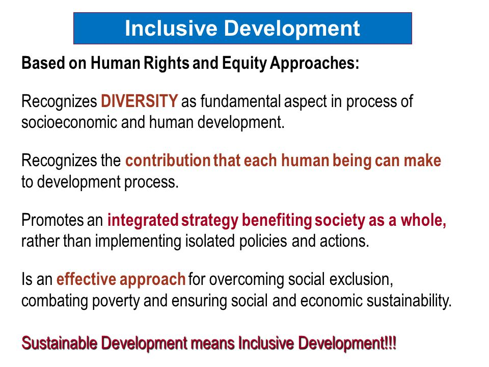 Children with Disabilities HRBA, Equity and Inclusive ...