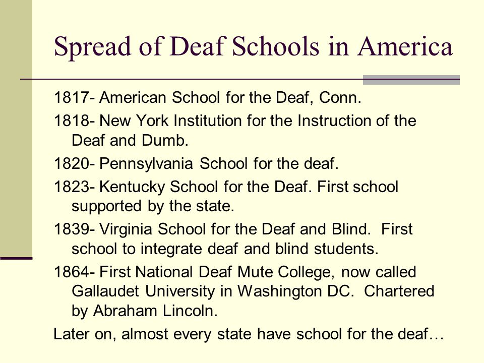 deaf in america Latin america we support a diverse range of local organisations and community groups who share our vision, mission and values, and work with deaf children and their.