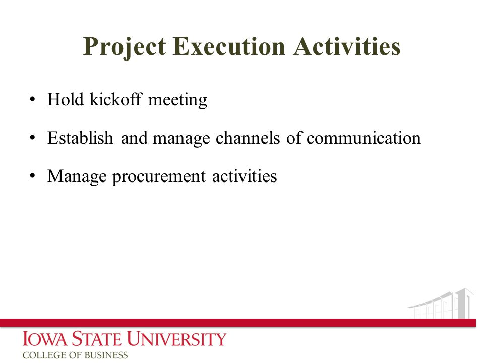 Project Execution Activities