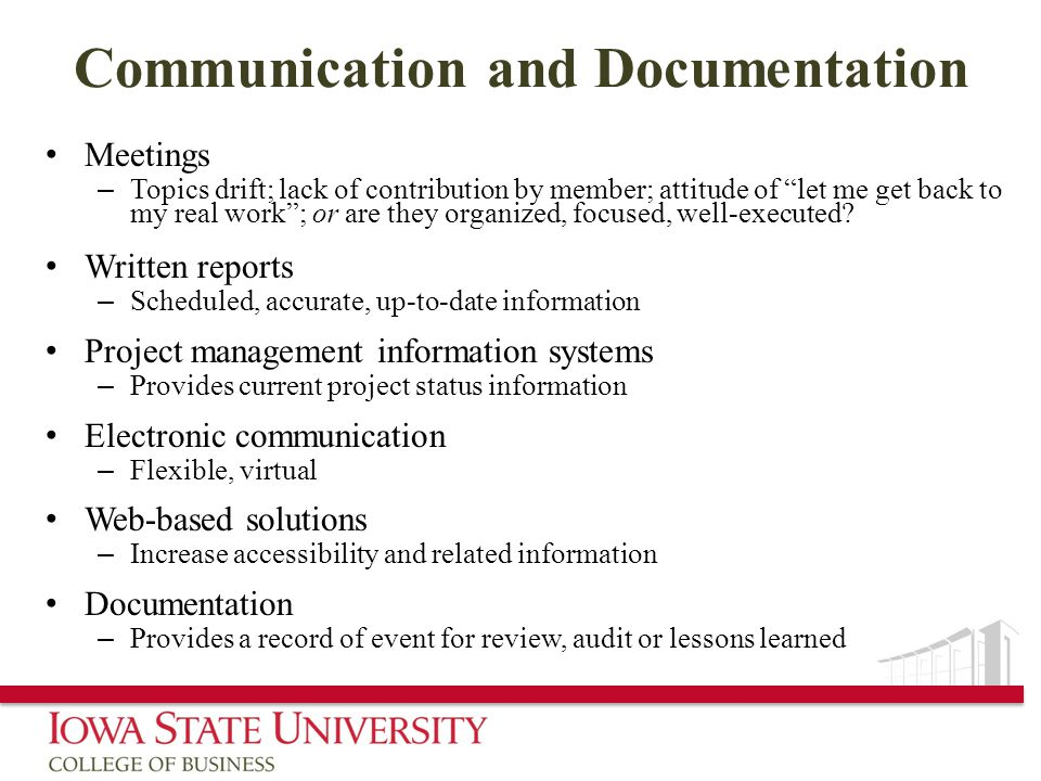 Communication and Documentation