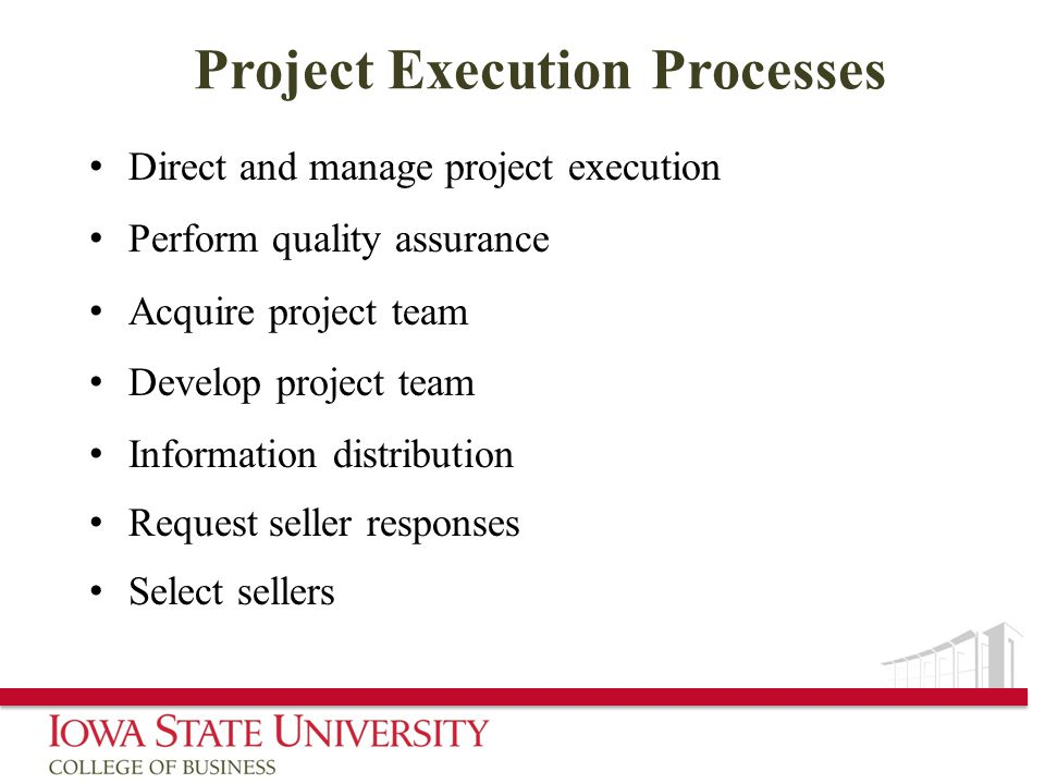 Project Execution Processes