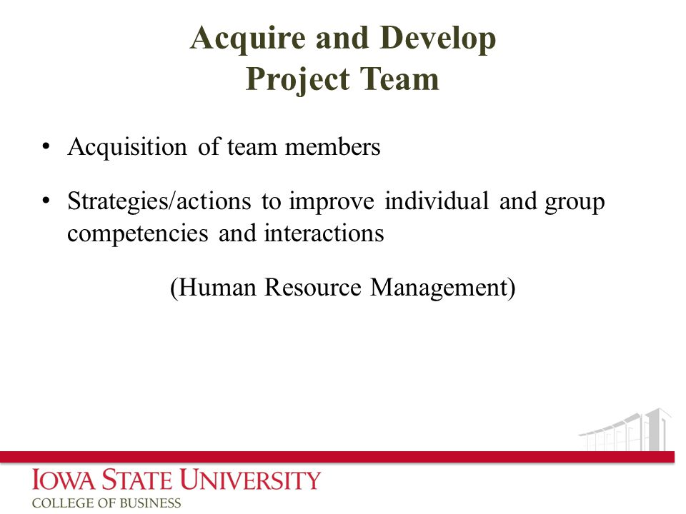 Acquire and Develop Project Team