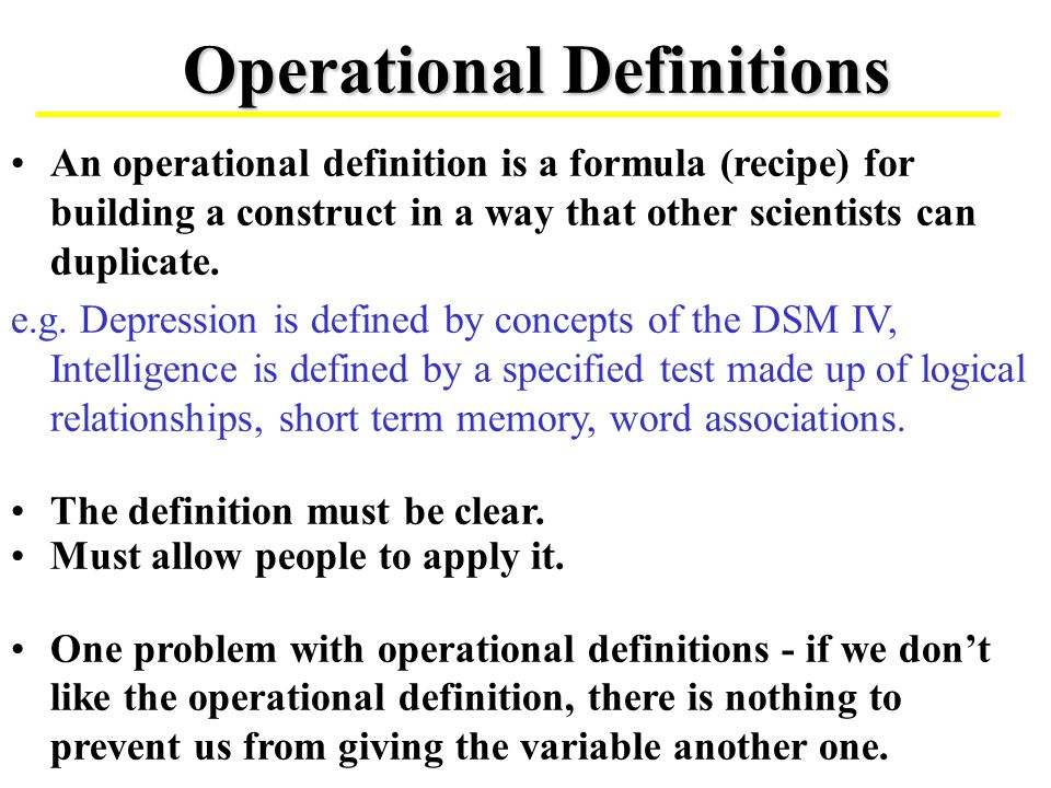 operational definition pdf Part 1 / philosophy of science, empiricism, and the scientific method chapter 2: elements of scientific theories: concepts and definitions.