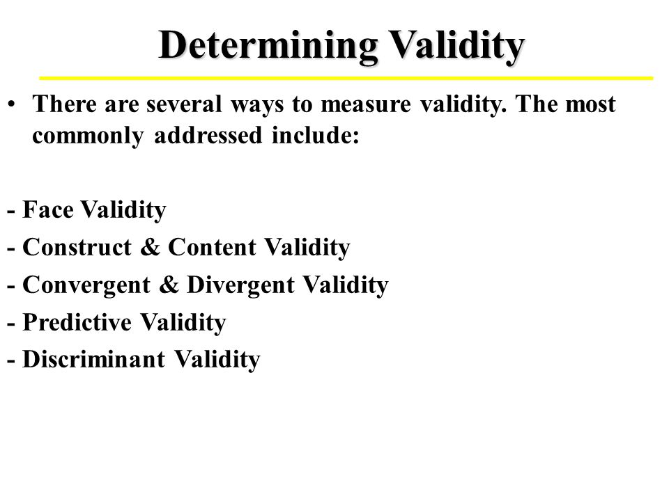 assess the validity of online information It is possible to have a measure that has high reliability but low validity - one that is consistent in getting bad information or consistent in missing the mark it is also possible to have one that has low reliability and low validity - inconsistent and not on target.