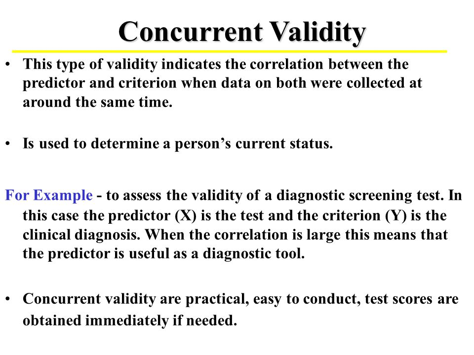 Test Validity and Design