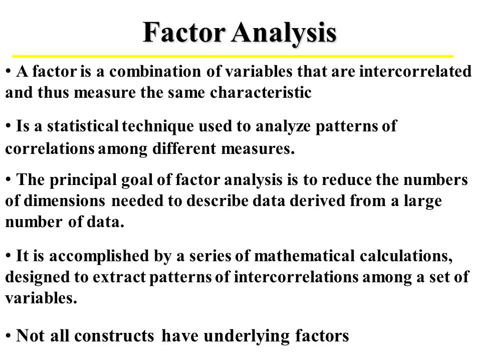 factor analysis in research methodology Analysis section will give you clues as to how to use thematic or narrative analysis, what validation strategies you need to a guide to using qualitative research methodology contents 1 what is qualitative research aims, uses and ethical issues.
