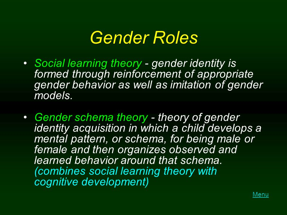 female sexuality gender role s in Gender refers to the socially constructed roles, behaviours, activities, and attributes that a given society considers appropriate for men and women neat so a gender difference is due to.