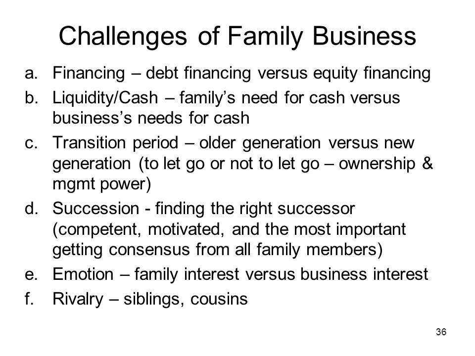 Challenges in succession of family-owned businesses essay