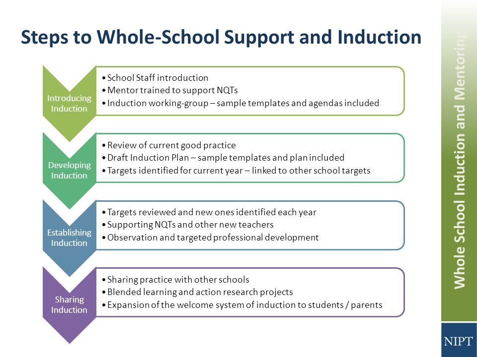 what kind of support is available for new teachers that participate in mentoring and induction progr How does a mentoring program differ from an induction program are mentoring and induction programs equally effective what kind of support is available for new teachers that participate in these types of programs.
