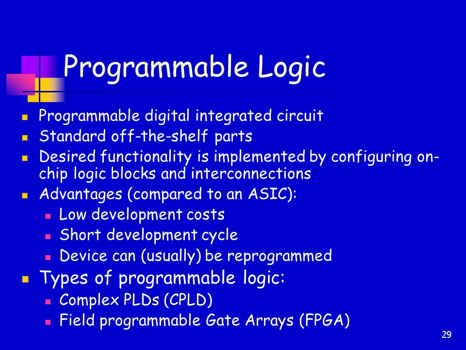 programmable logic design Programmable logic: a practical introduction for beginners  the fpga has become virtually synonymous with programmable logic  that's the design software's .
