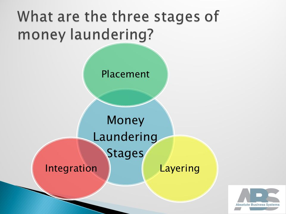 the history and the three stages of money laundering Smurfs a popular method used to launder cash in the placement stage the money laundering cycle can be broken down into three distinct stages however, nbspmethods and.