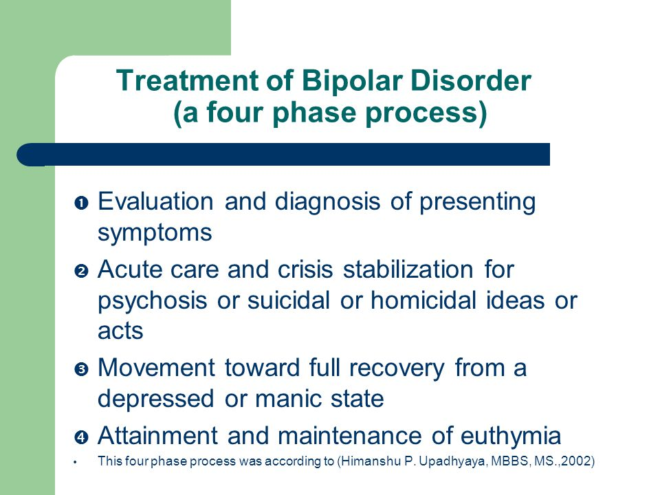 bipolar disorder diagnosis and treatment