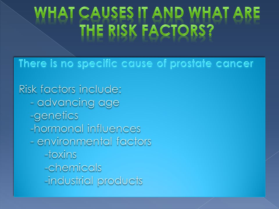 What causes it and what are the risk factors