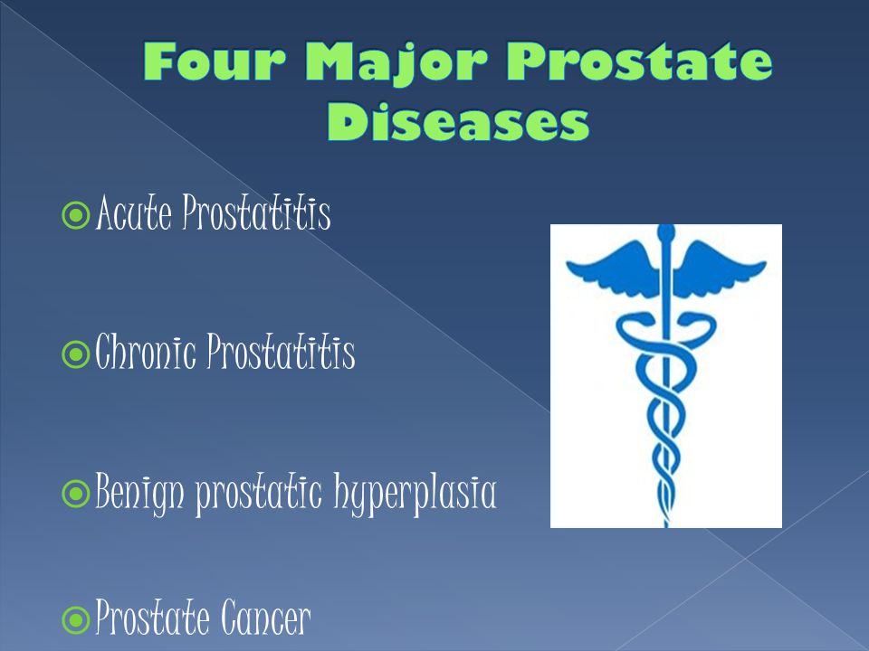 Four Major Prostate Diseases
