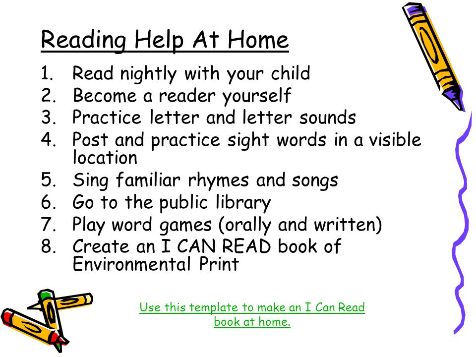 Use this template to make an I Can Read book at home.