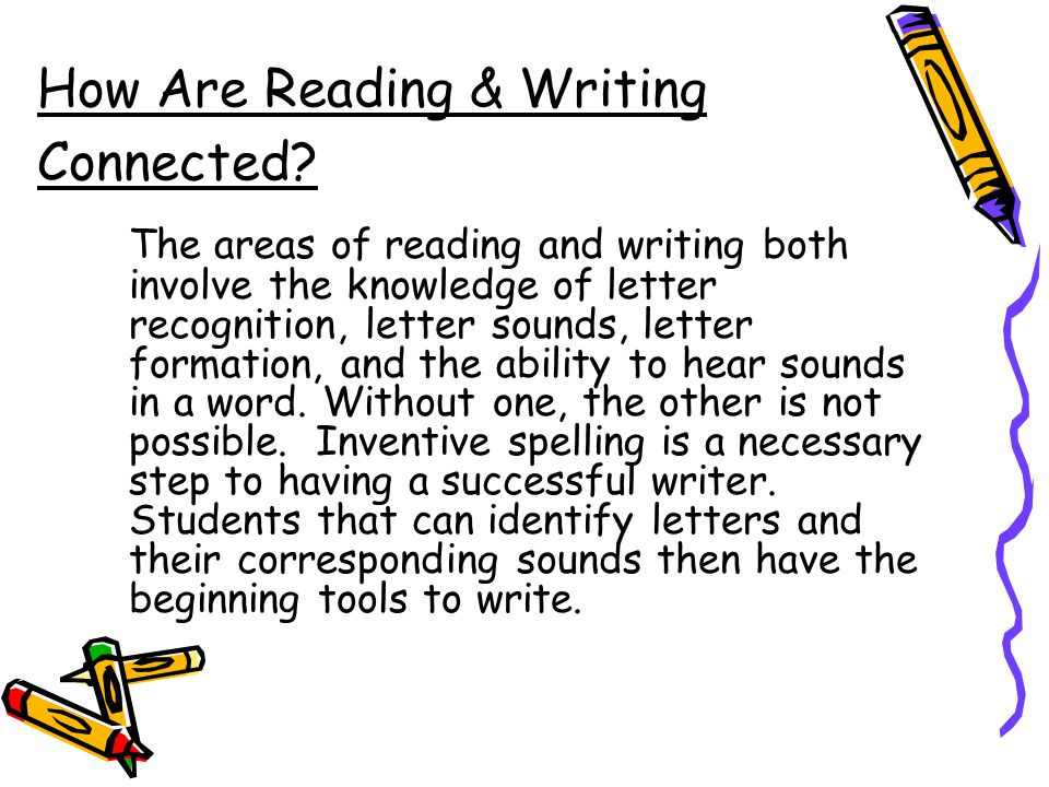 How Are Reading & Writing Connected