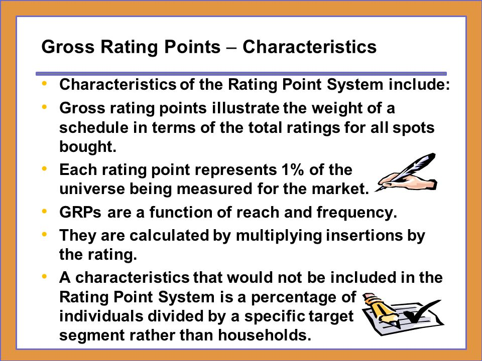 Gross Rating Points – Characteristics