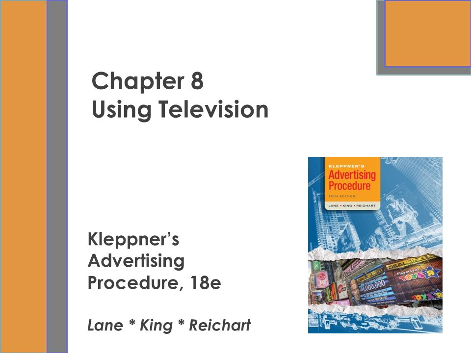 Chapter 8 Using Television