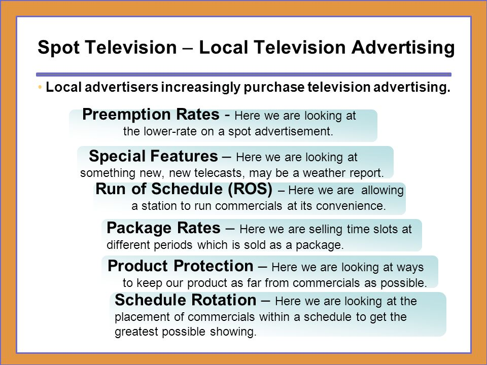 Spot Television – Local Television Advertising
