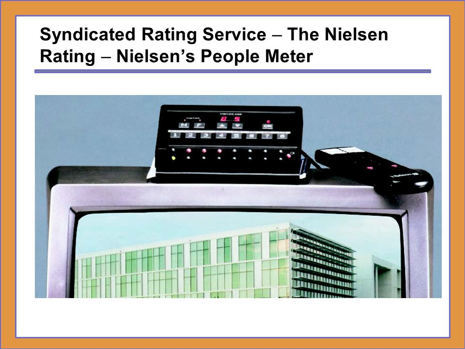 Syndicated Rating Service – The Nielsen Rating – Nielsen's People Meter