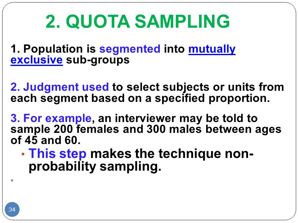 sampling in research definition It consist sample definition, purpose of sampling, stages in the selection of a sample, types of sampling in quantitative researches, types of sampling in qualitative researches, and ethical considerations in research method - sampling 1 sampling techniques & samples types.