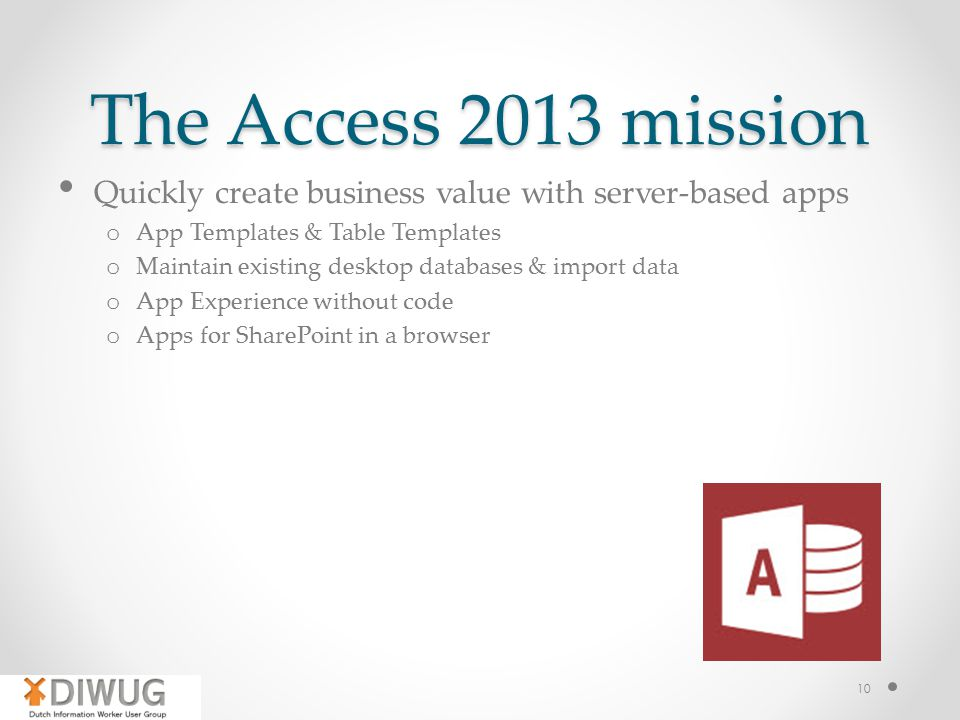 access business templates