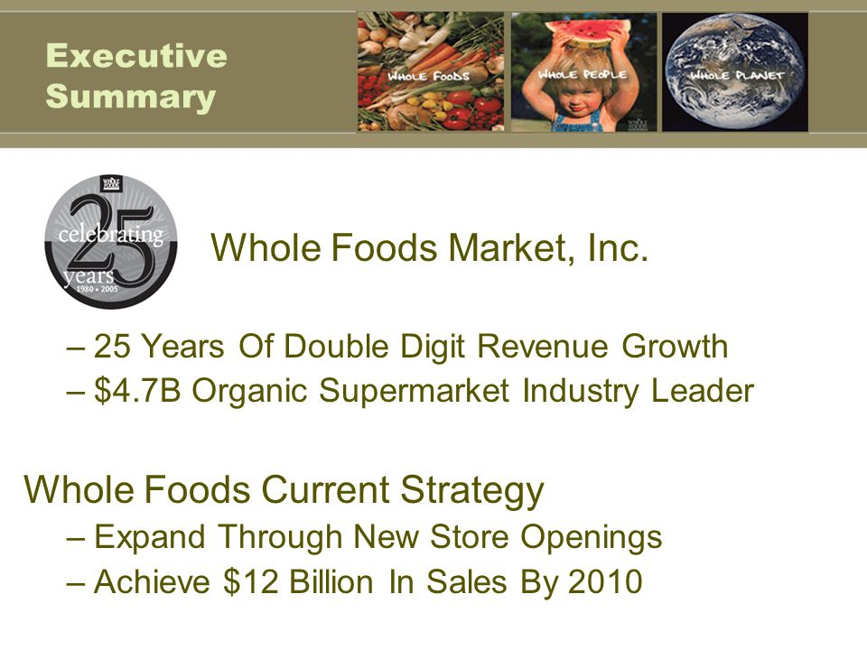 Whole Foods Current Strategy