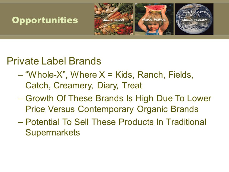 Private Label Brands Opportunities