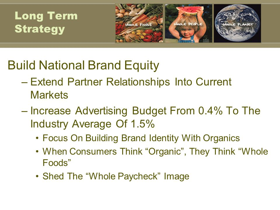 Build National Brand Equity