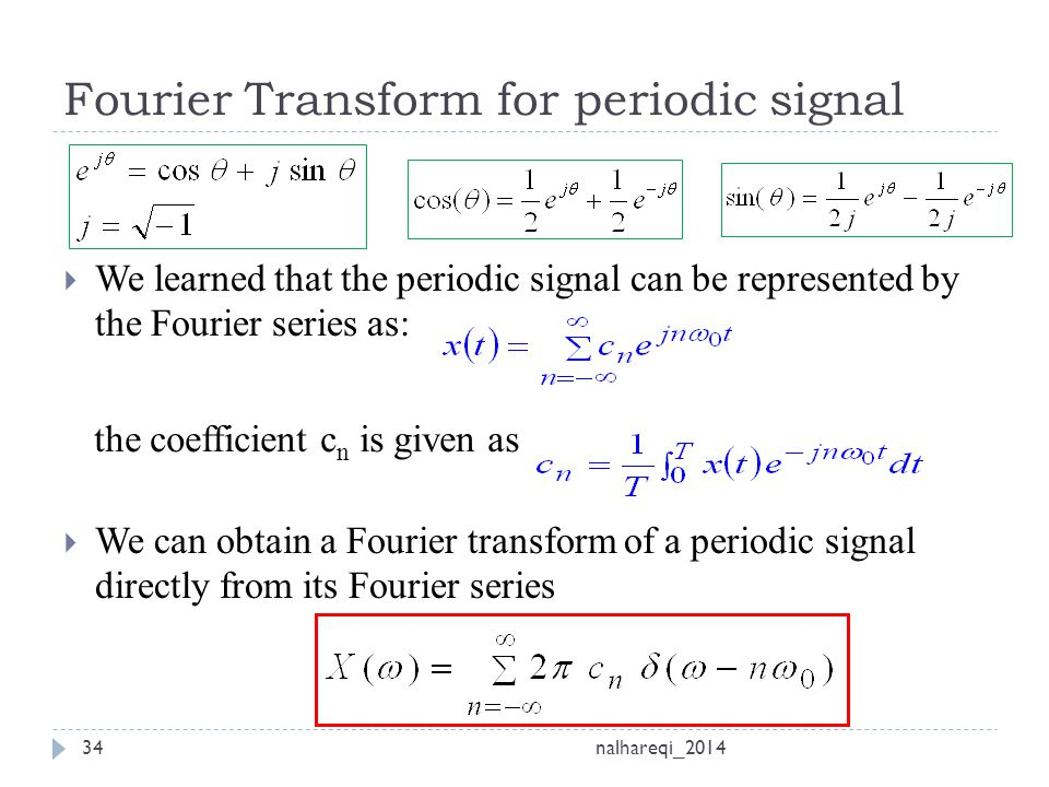 Ch 3 fourier series and transform ppt video online download - Fourier series transform table ...