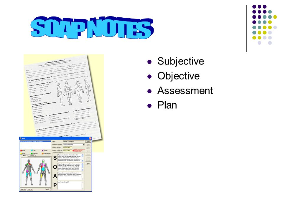 Subjective Objective Assessment Planning Note Simple Example Of