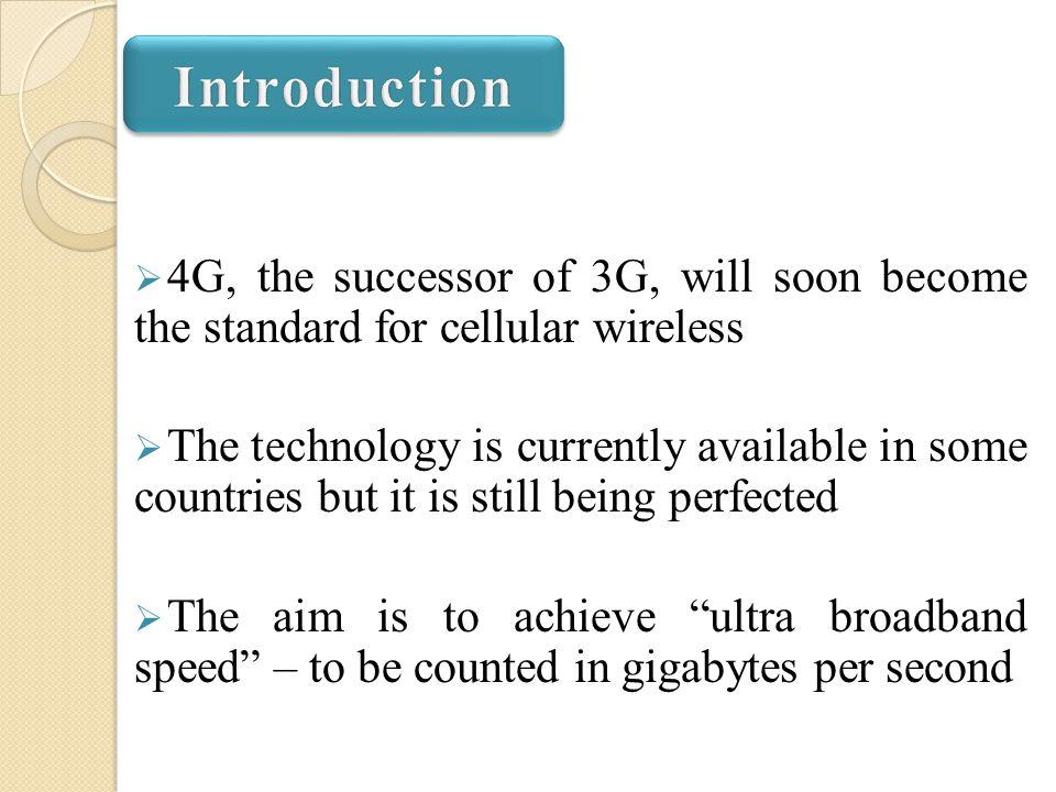 Presentation On 4g Ppt Video Online Download
