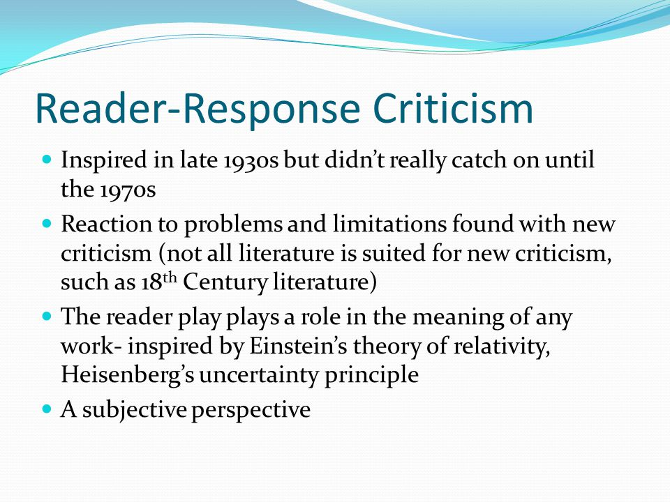 reader response to for whom the Marilyn pryle shares five reading response activities to help students interact with  texts in  whom does the character need to speak to.
