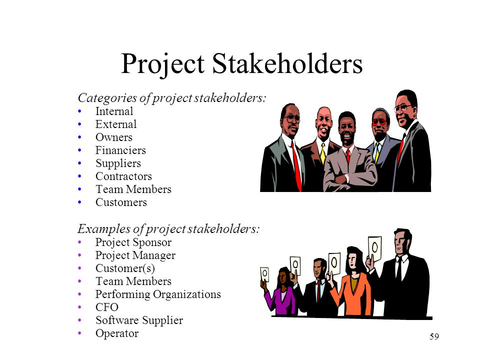 """stakeholder project organization According to the pmi (project management institute) the term refers to """"an  individual, group or organization that is actively involved in the."""