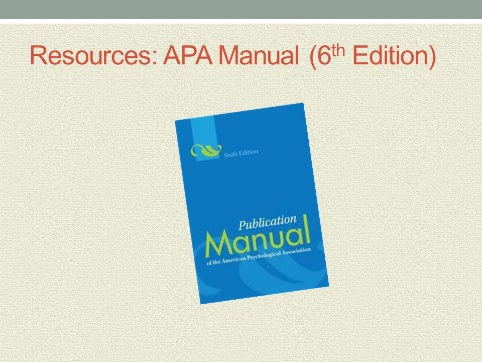citing a manual in apa
