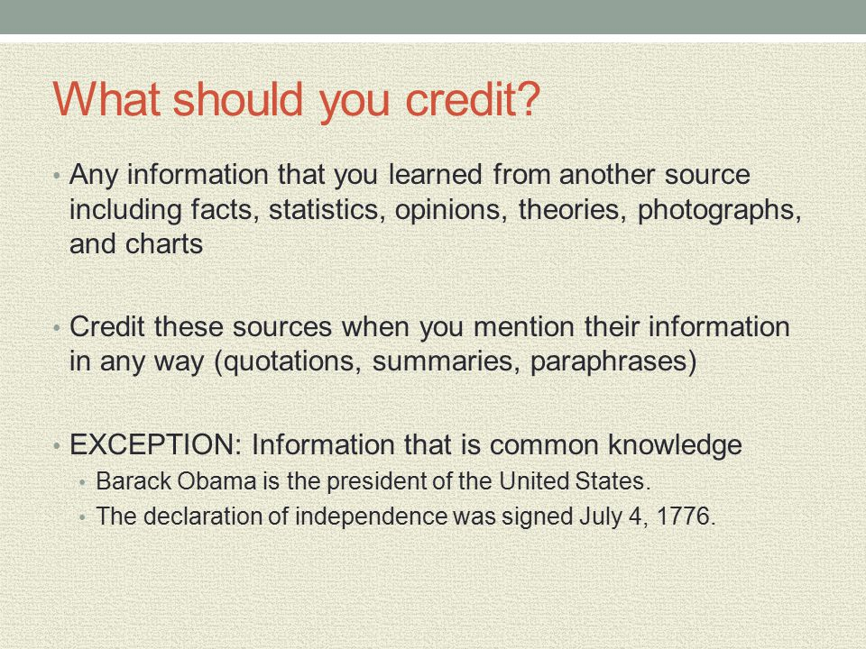 In text citations and reference lists ppt video online download what should you credit any information that you learned from another source including facts statistics ccuart Image collections