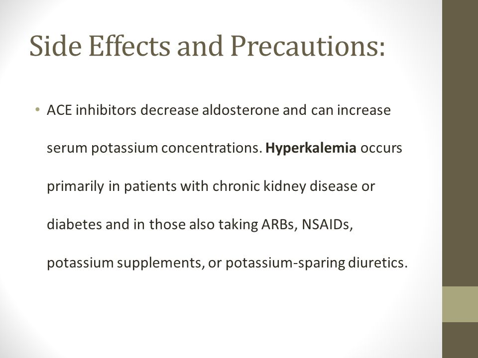 Lisinopril Kidneys Side Effects