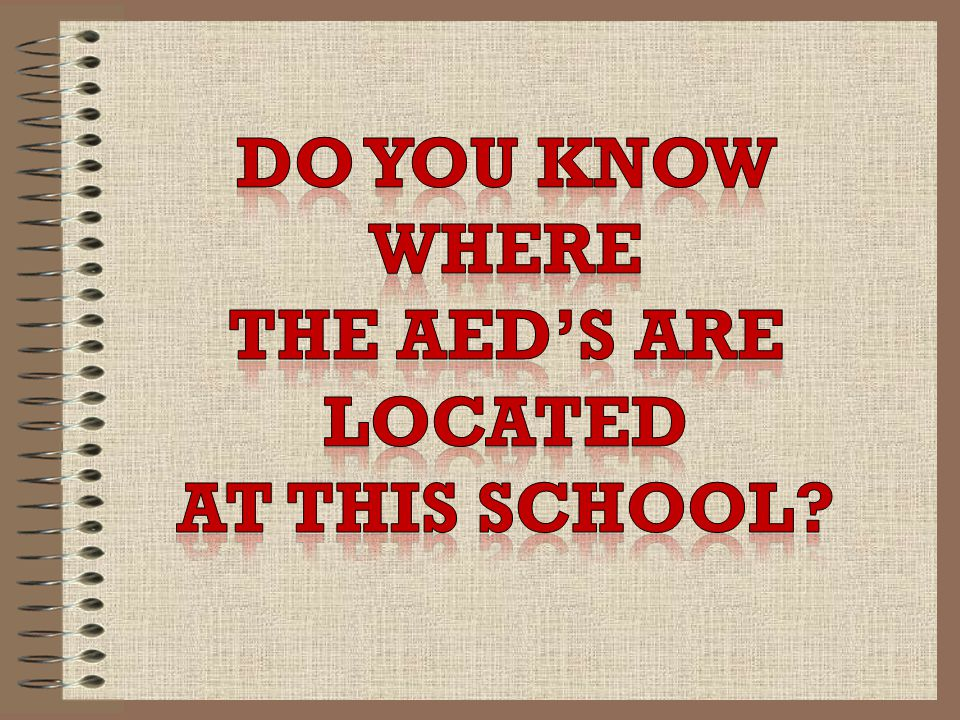 Do you know where The AED's are located At this school