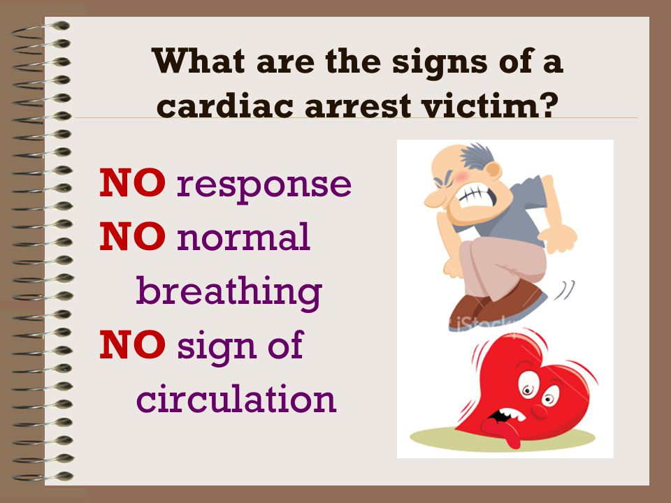 What are the signs of a cardiac arrest victim