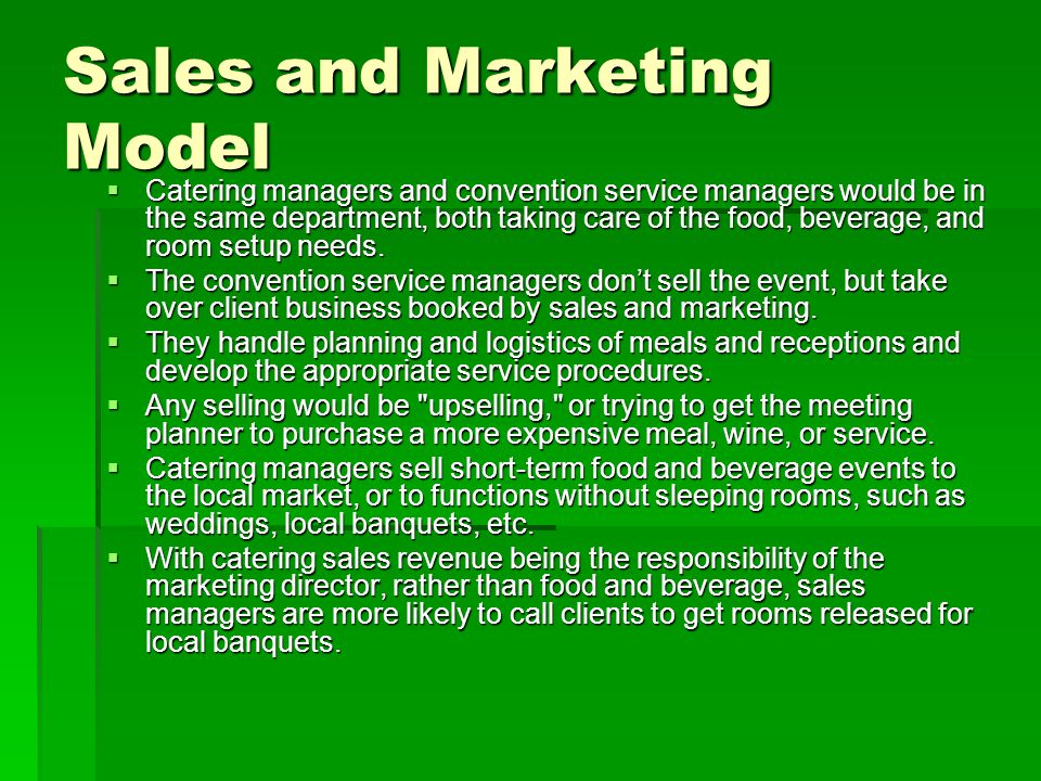 A meeting planner s guide to catered events ppt download for Short sale marketing