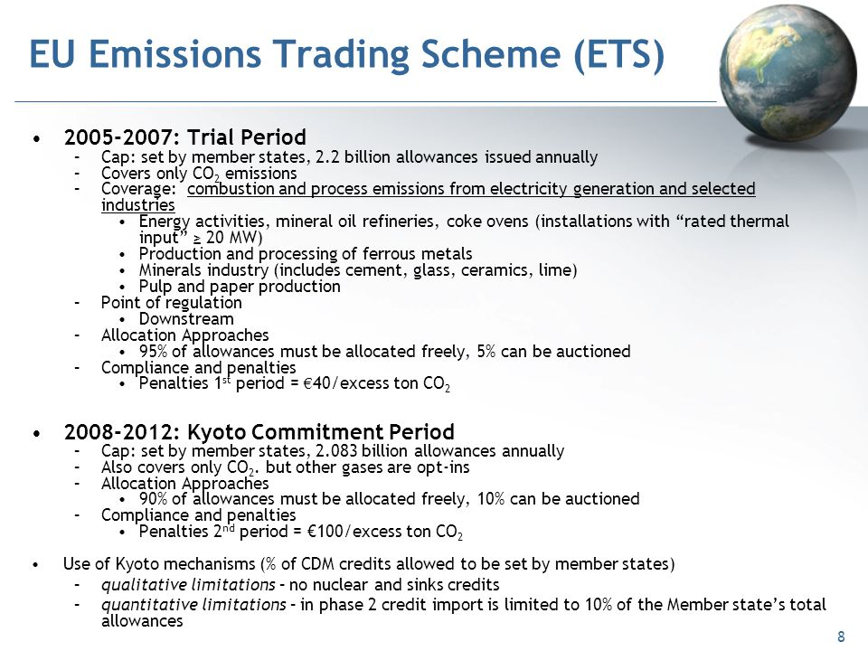 Eu emissions trading system (eu ets) directive