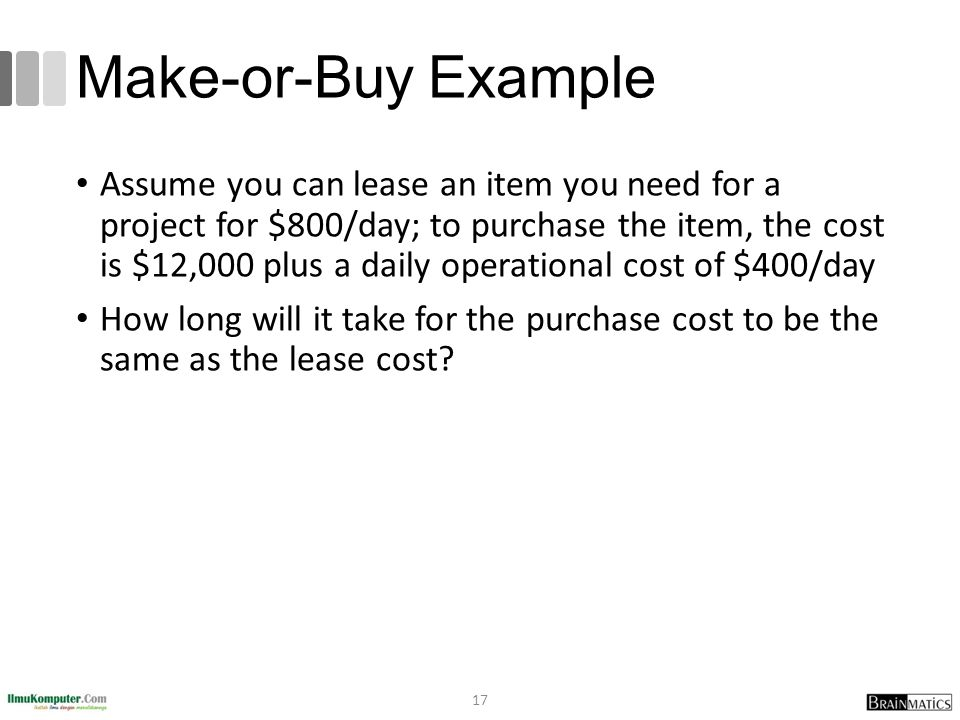 Make-or-Buy Example