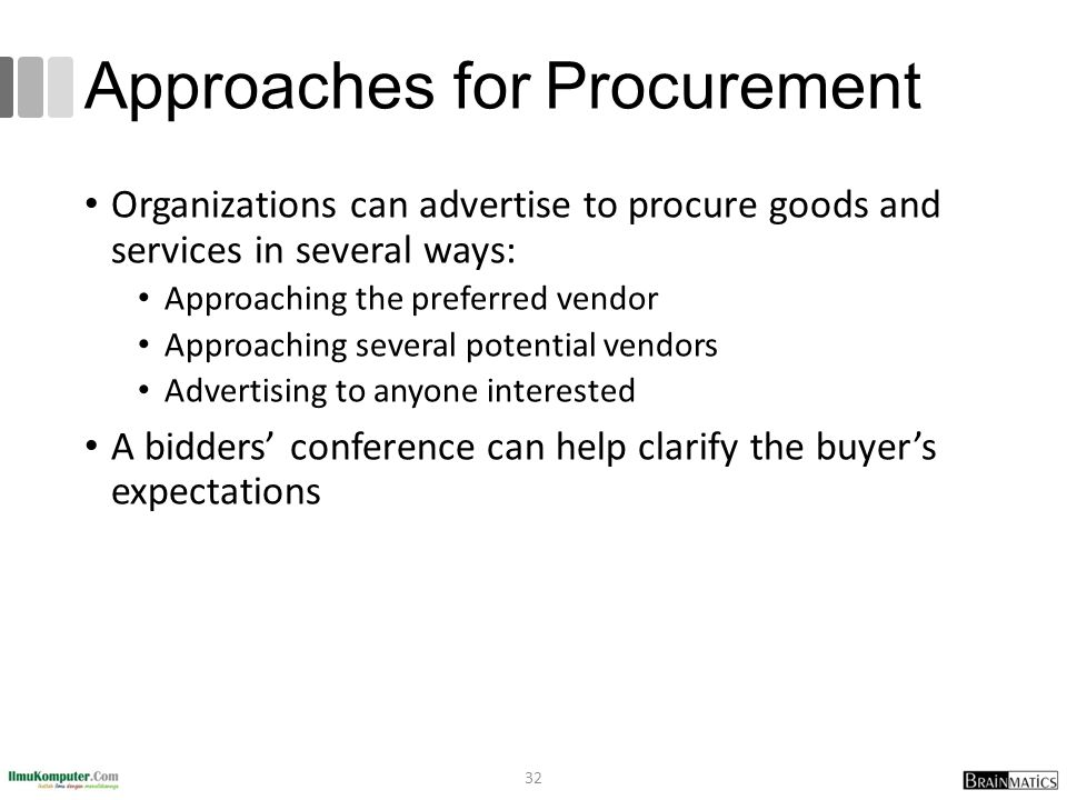 Approaches for Procurement
