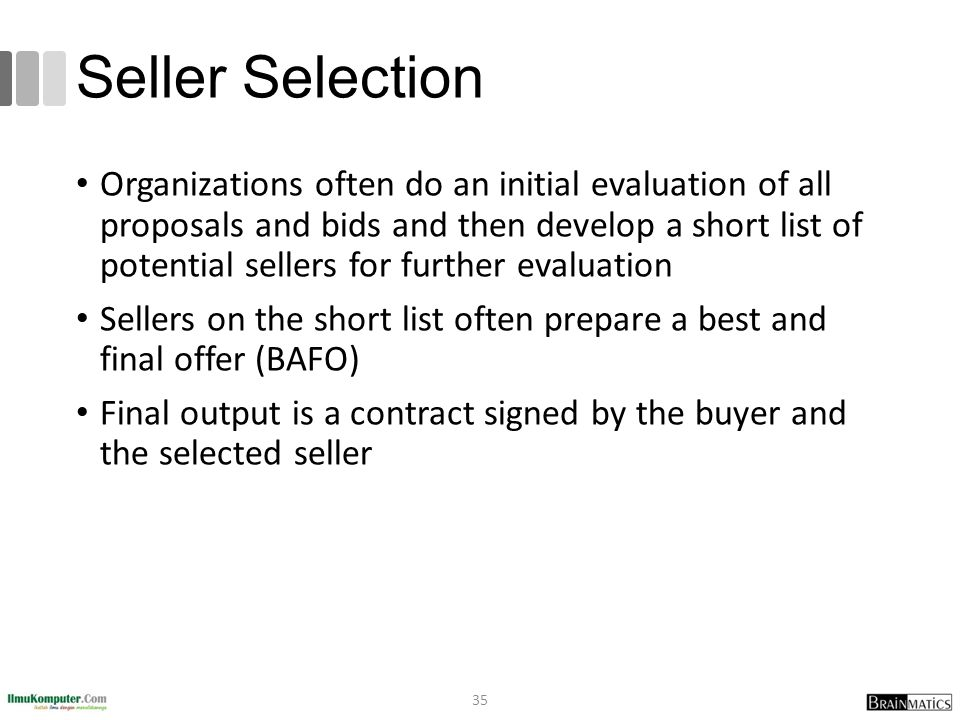 Seller Selection