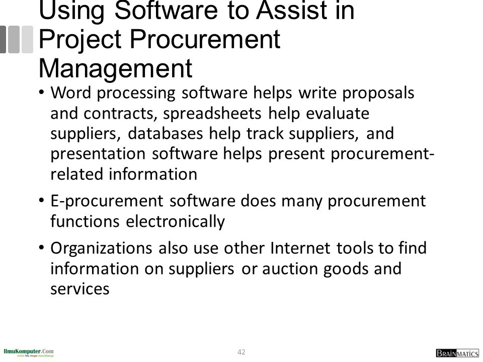 Using Software to Assist in Project Procurement Management