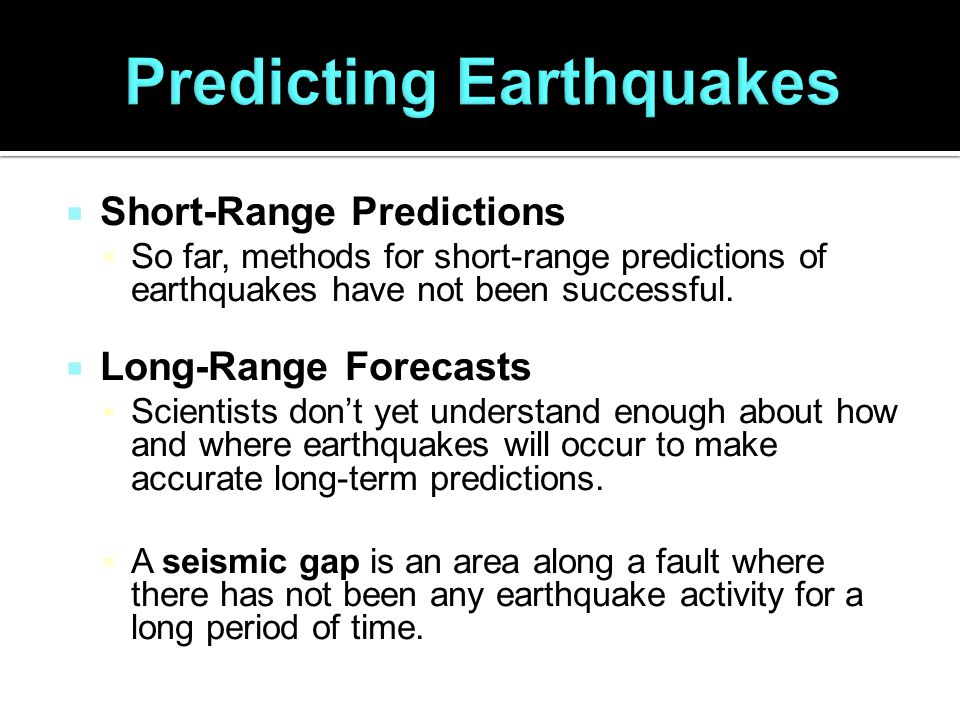 An analysis of earthquake predicting in seismology